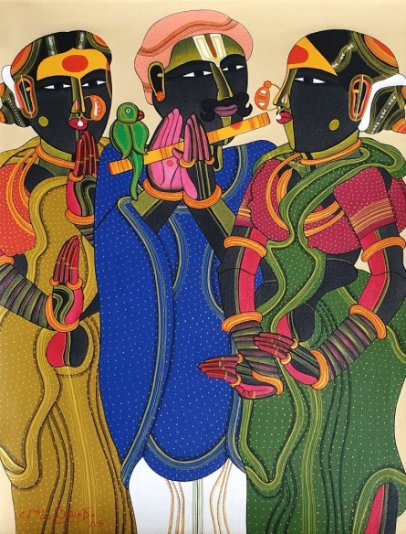 Figurative Acrylic Art Painting title Untitled 27 by artist Thota Vaikuntam