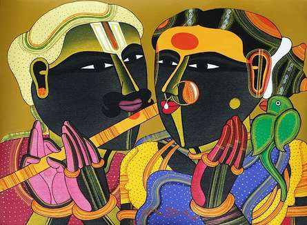 Figurative Acrylic Art Painting title Untitled 28 by artist Thota Vaikuntam