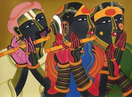 Figurative Acrylic Art Painting title Untitled 41 by artist Thota Vaikuntam