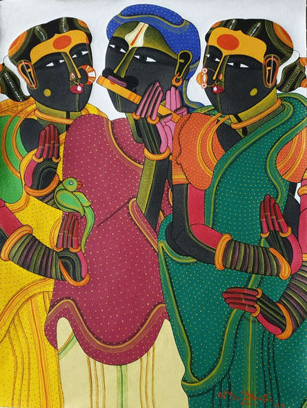 Figurative Acrylic Art Painting title 'Untitled 2' by artist Thota Vaikuntam