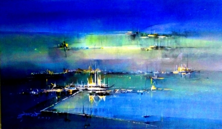 contemporary Acrylic Art Painting title 'Day Breck' by artist Dnyaneshwar Dhavale