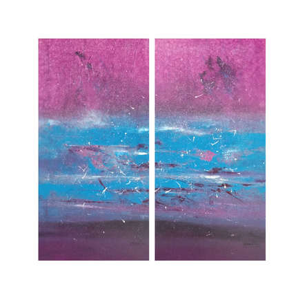 Abstract Acrylic Art Painting title Untitled - Diptch by artist Dnyaneshwar Dhavale