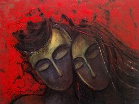 Figurative Acrylic Art Painting title 'Ek Duze Ke Liye 12x18 7' by artist Dnyaneshwar Dhavale