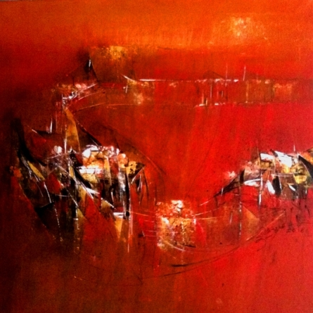 Abstract Acrylic Art Painting title 'Gallery Img' by artist Dnyaneshwar Dhavale