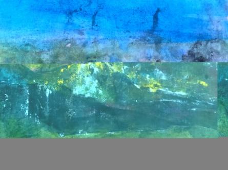 Landscape Acrylic Art Painting title 'Img Mountain Range' by artist Dnyaneshwar Dhavale