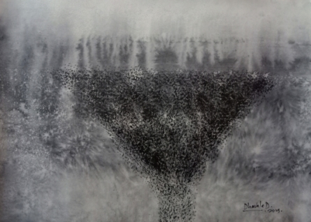 Dnyaneshwar Dhavale Paintings | Abstract Painting - Untitled 01 by artist Dnyaneshwar Dhavale | ArtZolo.com