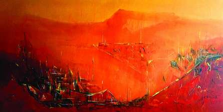 contemporary Acrylic Art Painting title 'Untitled 2' by artist Dnyaneshwar Dhavale