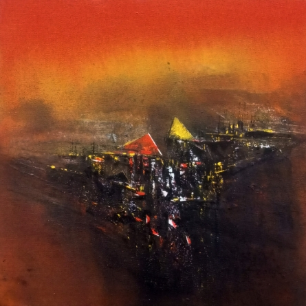 Dnyaneshwar Dhavale | Acrylic Painting title Untitled on CANVAS