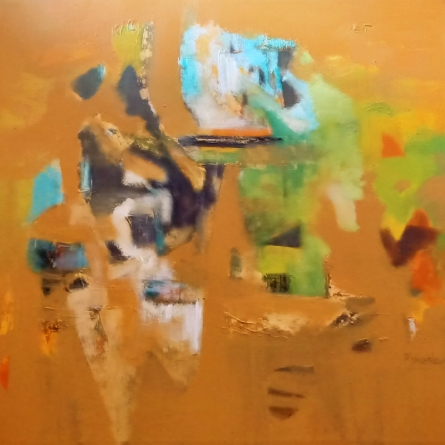 Abstract Acrylic Art Painting title 'Untitled Yo' by artist Dnyaneshwar Dhavale