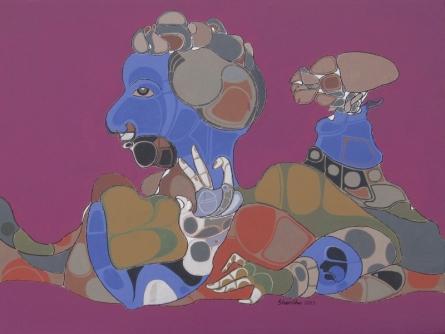 128 | Painting by artist Shambhu Prasad Reddy Kolli | acrylic | canvas with acrylic