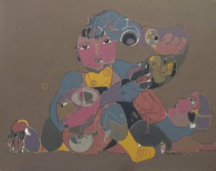 Figurative Acrylic Art Painting title 131 36x48 Inches Acrylic On Canvas by artist Shambhu Prasad Reddy Kolli