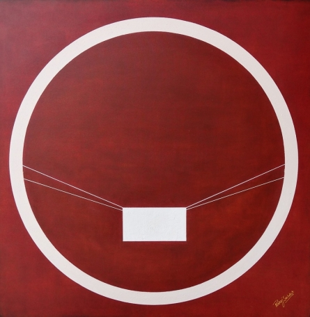 Mixed Media Painting titled '7 shunya' by artist Pankaj Sachdeva on Canvas