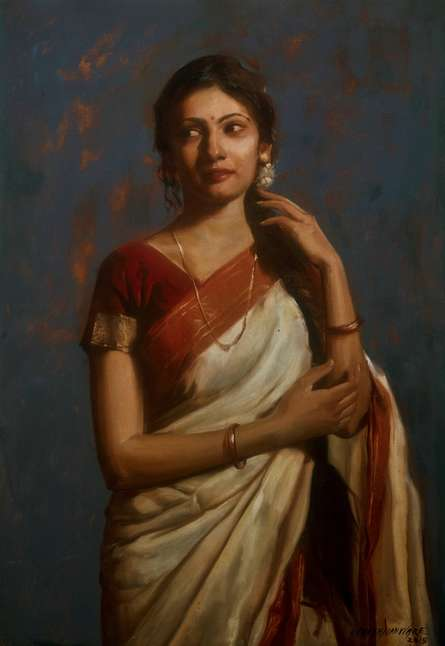 Shraddha | Painting by artist Ramesh Nanware | oil | Canvas