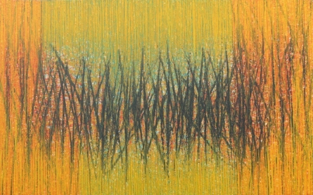 Abstract Acrylic Art Painting title 'Vibrancy 8' by artist Satish Bhaisare