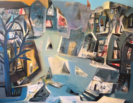 Tapas Ghosal | Acrylic Painting title Untitled 4 on Canvas | Artist Tapas Ghosal Gallery | ArtZolo.com