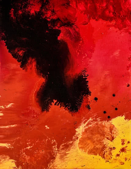 Kartikey Sharma | Acrylic Painting title Fire 3 on Canvas | Artist Kartikey Sharma Gallery | ArtZolo.com