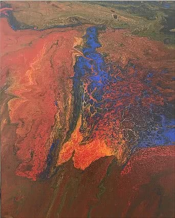 Abstract Acrylic Art Painting title 'Untitled 8' by artist Kartikey Sharma
