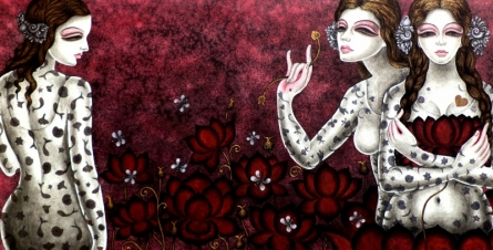 Figurative Acrylic Art Painting title Abhisarika 24 by artist Vishal Sabley