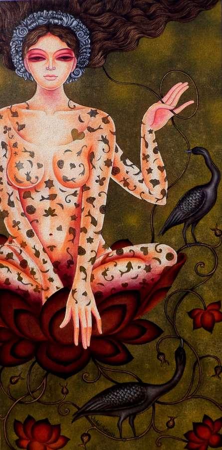 Padmini 21 | Painting by artist Vishal Sabley | acrylic | Canvas