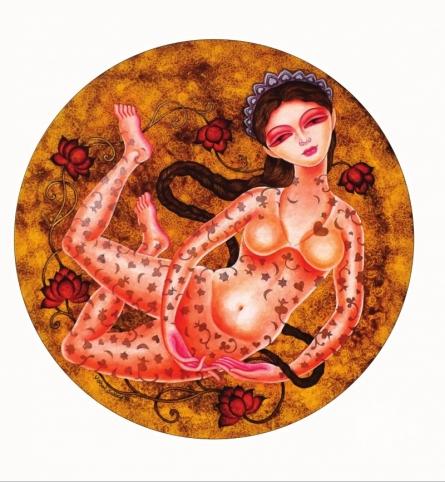 Sukanya 1 | Painting by artist Vishal Sabley | acrylic | Canvas