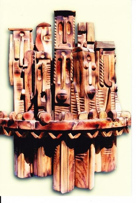 Untitled 3 | Sculpture by artist Indira Ghosh | Wood