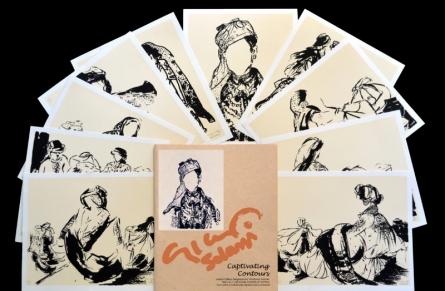 Figurative Serigraphs Art Painting title 'Captivating Contours' by artist Vrindavan Solanki