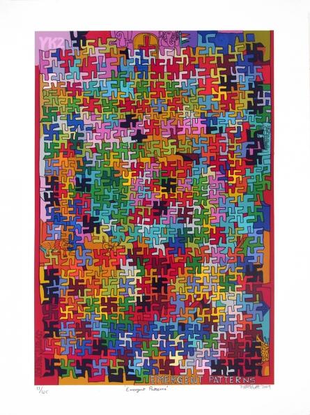 Religious Serigraphs Art Painting title 'Emergent Patterns' by artist Jyoti Bhatt