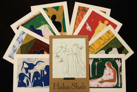 contemporary Serigraphs Art Painting title 'Faith And Passion' by artist Haku Shah