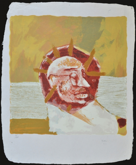 Figurative Serigraphs Art Painting title 'Gandhi' by artist Haku Shah