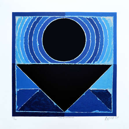 Abstract Serigraphs Art Painting title 'Germination' by artist S. H. Raza