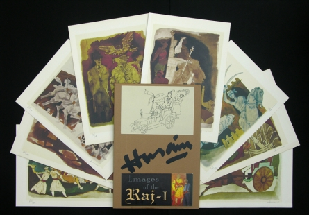 Figurative Serigraphs Art Painting title 'Images Of Raj 1' by artist M. F. Husain