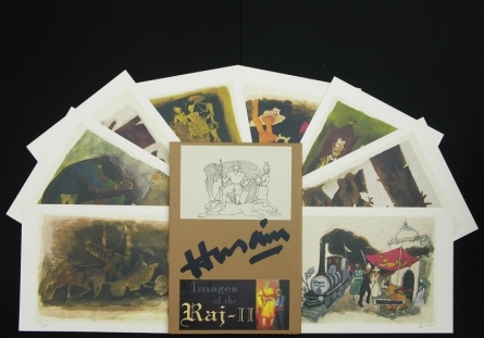 Figurative Serigraphs Art Painting title Images Of Raj 2 by artist M. F. Husain