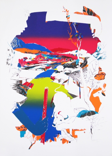 contemporary Serigraphs Art Painting title Miraculous Morning by artist Nabibakhsh Mansoori