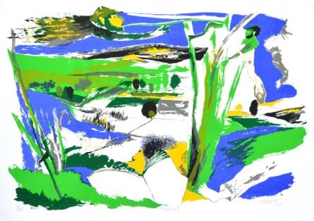 Nature Serigraphs Art Painting title 'Mischief' by artist Nabibakhsh Mansoori