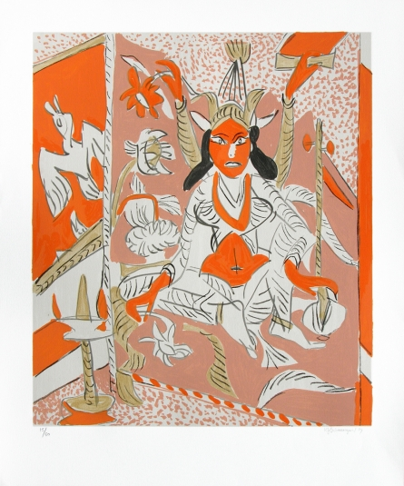 Religious Serigraphs Art Painting title 'Untitled 1' by artist K. G. Subramanyan