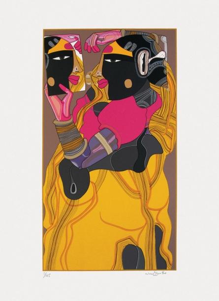 Figurative Serigraphs Art Painting title 'Untitled 1' by artist Thota Vaikuntam
