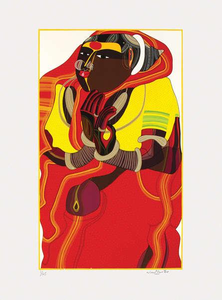 Figurative Serigraphs Art Painting title 'Untitled 2' by artist Thota Vaikuntam