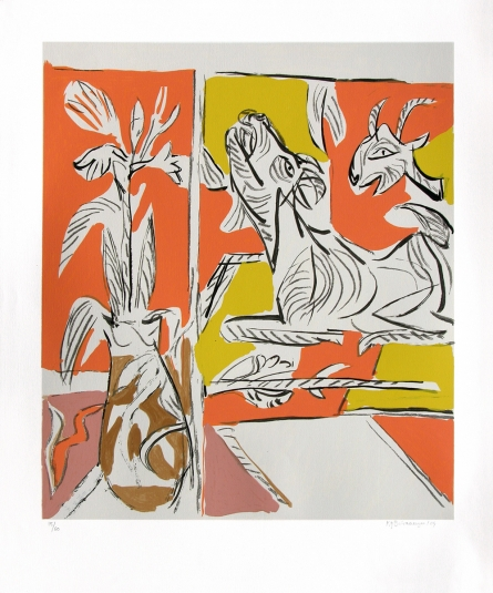 Figurative Serigraphs Art Painting title 'Untitled 2' by artist K. G. Subramanyan