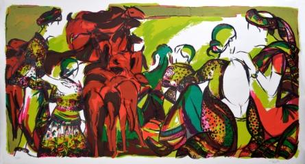 Figurative Serigraphs Art Painting title 'Untitled 2' by artist Vrindavan Solanki