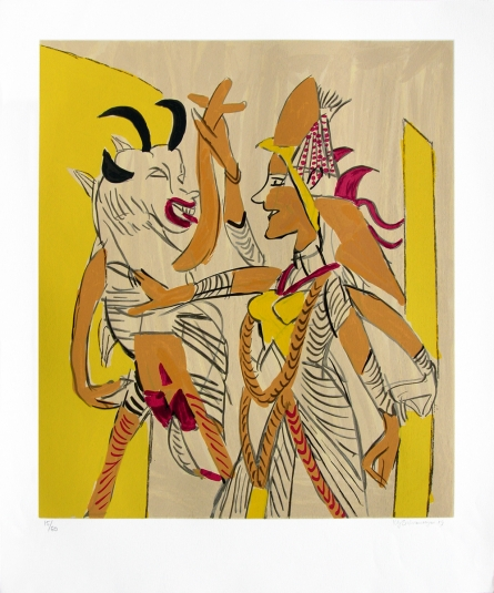 Religious Serigraphs Art Painting title 'Untitled 3' by artist K. G. Subramanyan
