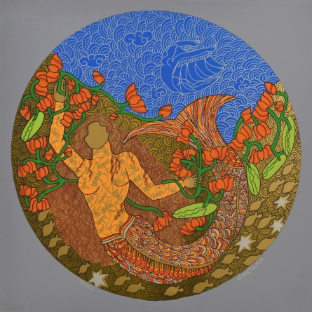 contemporary Serigraphs Art Painting title 'Untitled 4' by artist Seema Kohli