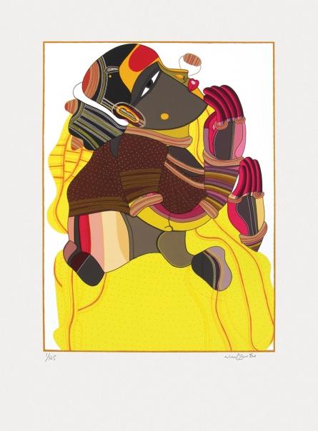 Figurative Serigraphs Art Painting title Untitled 5 by artist Thota Vaikuntam