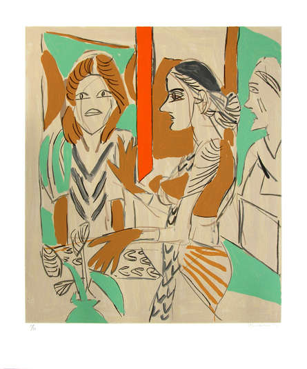 Figurative Serigraphs Art Painting title 'Untitled 7' by artist K. G. Subramanyan