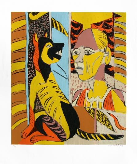Figurative Serigraphs Art Painting title 'Untitled 8' by artist K. G. Subramanyan