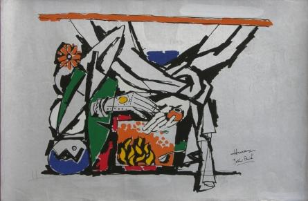 contemporary Serigraphs Art Painting title 'Yeh Kaun Sa Modh Hai Umar Ka 11' by artist M. F. Husain