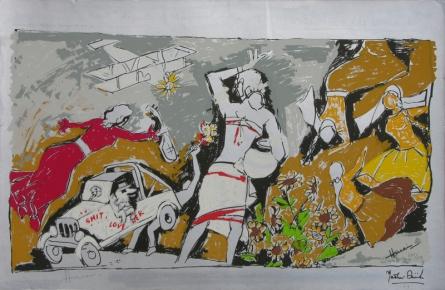 Figurative Serigraphs Art Painting title Yeh Kaun Sa Modh Hai Umar Ka 4 by artist M. F. Husain