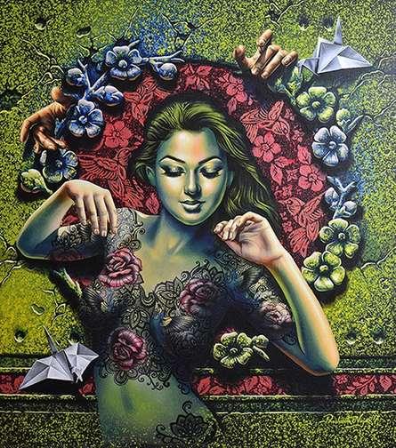 Figurative Acrylic Art Painting title 'Beautiful' by artist Prashanta Nayak
