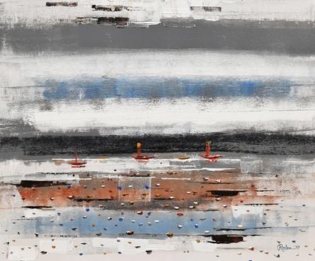 Landscape 3 | Painting by artist Reba Mandal | acrylic | Canvas