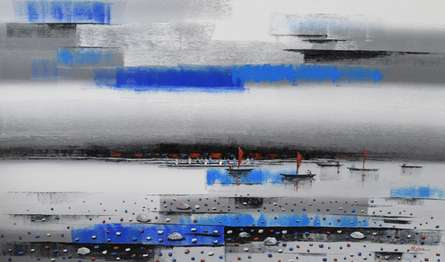Landscape Acrylic Art Painting title 'Landscape 4' by artist Reba Mandal