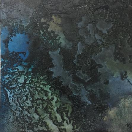 Night Ocean III | Painting by artist Vernika Singh | mixed-media | Canvas